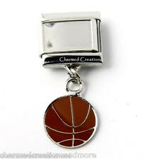 DIY Custom Photo Basketball 9mm Italian Charm Stainless Sports Dangle Link