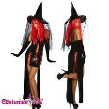 Sexy Hocus Pocus Versatile Witch Halloween Fancy Dress Costume + Hat