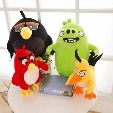 25CM Animal Birds Black Dolls Toys Red Stuffed Angry Styles Plush 4