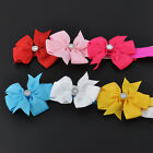 Newborn Feather Flower Girl Headband Baby Toddler Hairbow Hair Band Accessories