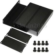 Black Split Body Aluminum Box Enclosure Case Project Electronic DIY 120x97x40mm