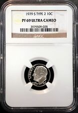 1979 S Type 2 Proof Roosevelt Dime! Graded PF 69 Ultra Cameo by NGC!!