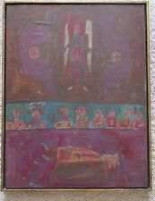 NORMAN LALIBERTE PAINTING DRAWING ABSTRACT OUTSIDER ART MODERNISM 1960'S LISTED