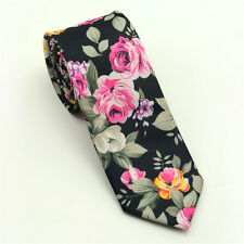 Men's Fashion Slim Skinny Wedding Groom Party Necktie Print Floral Tie