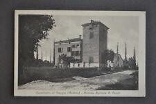 Cartolina Castelvetro di Staggia Modena Azienda Agricola Vecchi Casa Torre 1920