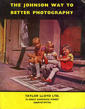 "TRADE CATALOGUE - ""THE JOHNSON WAY TO BETTERE PHOTOGRAPHY"" - PAMHPLET (c1950-60)"
