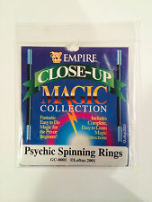 PSYCHIC SPINNING RINGS MAGIC MENTAL TRICKS CLOSE UP ILLUSION GIMMICK GAFF