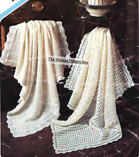 2 SQUARE SHAWLS - KNITTED 4ply &  CROCHET 3ply - COPY Baby shawl pattern