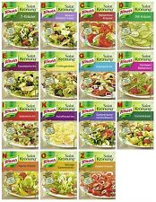 Salat Kronung Salad Herbs from Knorr Germany 15 diff. flavors, 6x5 flavors=30pcs