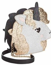 NWT BETSEY JOHNSON TOOT YOUR OWN HORN UNICORN ZIP AROUND CROSSBODY BAG PURSE $88