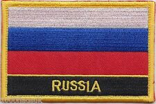 Russian Federation Russia Flag Embroidered Patch Badge - Sew or Iron on