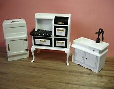 Dollhouse Miniature Vintage Kitchen Set Doll House Furniture
