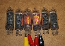 IN-14 IN14  Nixie Tubes Lot of 6 pcs USED FULL TESTED