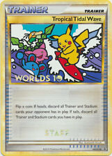 2010 Pokemon Worlds STAFF Promo Tropical Tidal Wave HGSS18 *MINT Condition!!!
