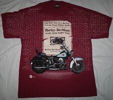 Harley Davidson Motocycles Vintage 1995 Brick Wall Graphic T-Shirt Mens XL
