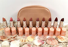 RIMMEL LONDON + KATE MOSS NUDE LIPSTICK SET OF 10 LASTING FINISH & NUDE BAG! ��