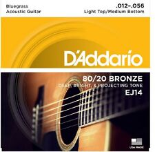 D'Addario EJ14 Light Top/Medium Bottom/Bluegrass, 12-56  80/20 Bronze
