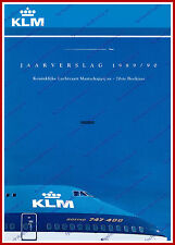 ANNUAL REPORT - KLM ROYAL DUTCH AIRLINES 1989-1990 - DUTCH