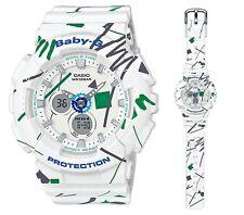 Casio Baby-G * BA120SC-7A Graffiti Design White Anadigi Ivanandsophia COD PayPal