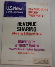 U.S. News Magazine Revenue Sharing & Democrats October 1972 031215R2