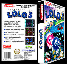 Adventures of LOLO 3 - NES Reproduction Art Case/Box No Game.