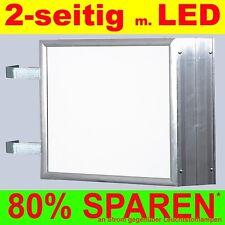 LED Leuchtwerbung 2-seitig beleuchtet 900 x 1500 x 138 mm Aussteller Nasenbox