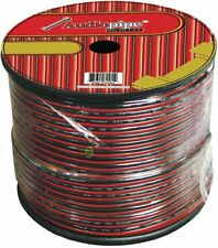 Audiopipe CABLE10100BK 10 Gauge Speaker Cable 100ft Black And Red Wire**