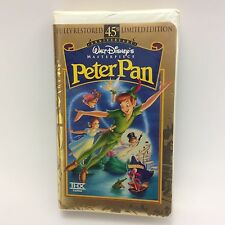 Walt Disney Masterpiece 45th Anniversary Limited Edition PETER PAN VHS Clamshell