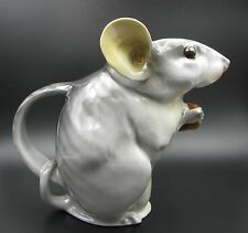 Rare Antique Royal Bayreuth Figural Gray Mouse Milk / Water Pitcher