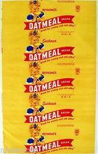 Vintage bread wrapper SUNBEAM OATMEAL Miss Sunbeam girl Reymond Waterbury CT