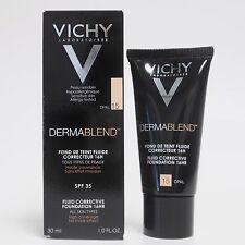 VICHY DERMABLEND FLUID FOUNDATION 15 opal,25 nude,35 sand,45 gold,55 bronze 30ML
