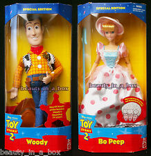 Woody and Bo Peep Doll Disney Toy Story 2  Separate Boxes Quite Rare