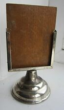 Antique Art Deco silver plate card holder for business cards hotel shop counter