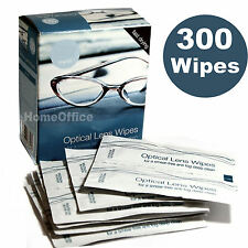 300 Optical Lens Wipes Cleans Glassess Individual Sachets Glass Cleaner