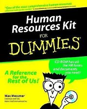 Human Resources Kit For Dummies (For Dummies (Computer/Tech)), Messmer, Max, Goo
