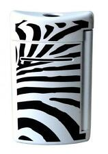 S.T. Dupont MiniJet Torch Flame Lighter, Black & White Zebra 10072, New In Box