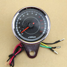 New Universal Motorcycle DC 12V LED Backlight Tachometer Speedometer Tacho Gauge