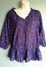 New Nine West Vintage America Collection Women's Purple Top Shirt NWT $59 Small