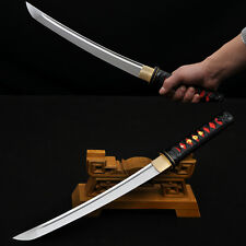 LEATHER ITO JAPANESE SAMURAI SWORD TANTO HIGH CARBON STEEL FULL TANG BLADE SHARP