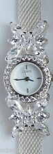 "Lenox Sterling Silver The Crystal Butterfly Watch Fully Adjustable to 8"" NIB"