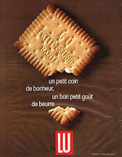 PUBLICITE   1965   LU   petit beurre un coin de bonheur