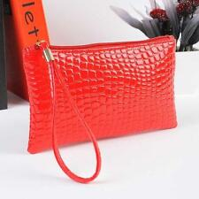 Hot Fashion Women Crocodile Leather Clutch Handbag Bag Coin Purse Wallet Red D2