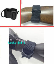 Black Universal Rifle Gun Shotgun Stock Single Point Sling Loop Adapter Strap