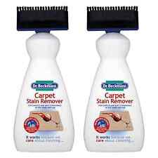 2 x Dr. Beckmann Carpet Stain Remover With Applicator 650ml Upholstery Cleaner