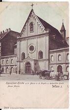 Austria Wien - Neuer Markt Kapuziner-Kirche old postcard
