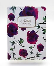 """ECCOLO WORLD TRAVELER JOURNAL ~ FLOWERS """"Notes of the Day"""" JOURNAL ~ NEW"""