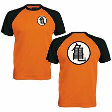 Goku's Training Symbol Baseball T-Shirt - Dragon Ball Inspired Mens Fan Top