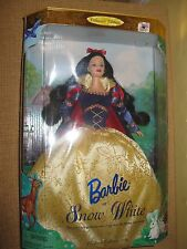 BARBIE*SNOW WHITE*CHILDREN COLLECTOR EDITION*DISNEY*doll gown apple shoes 1998