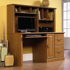 Sauder 401354 Orchard Hills Extended Computer Desk with Hutch