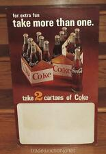 "VINTAGE ORIGINAL USA COCA~COLA 27""h CARDBOARD STAND-UP STORE DISPLAY SIGN LITHO"